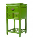 Pair of Green Lacquered Side Tables