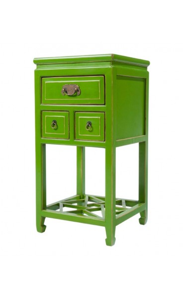 Green Lacquered Side Table
