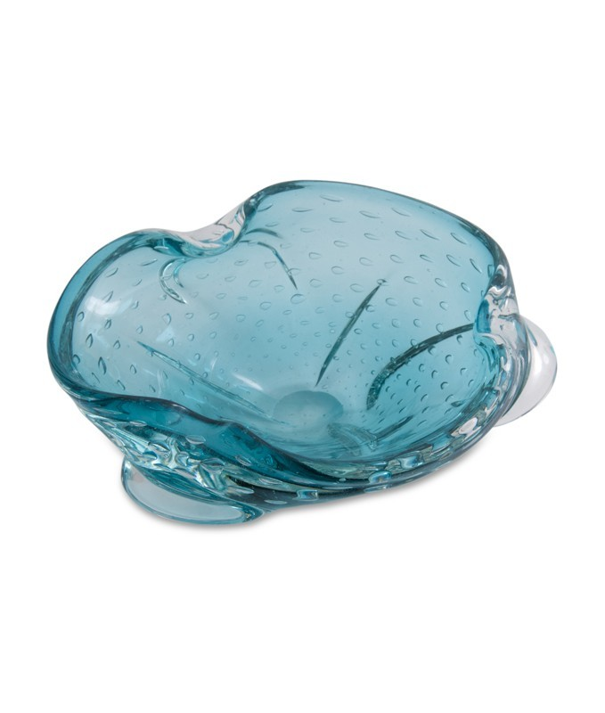 Pale Blue Sea-form Murano Glass Dish