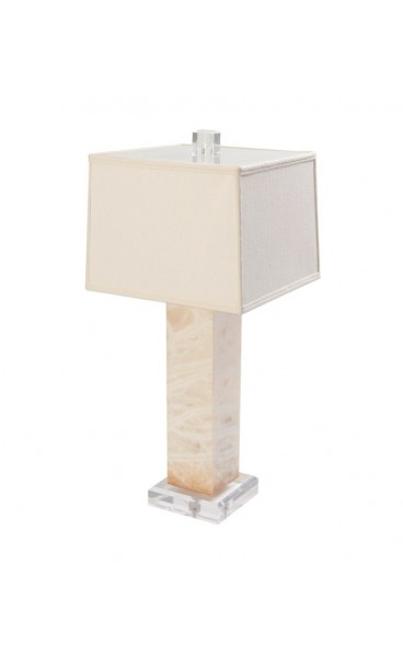 White Alabaster Table Lamps