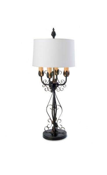Wrought Iron Candelabra Table Lamp